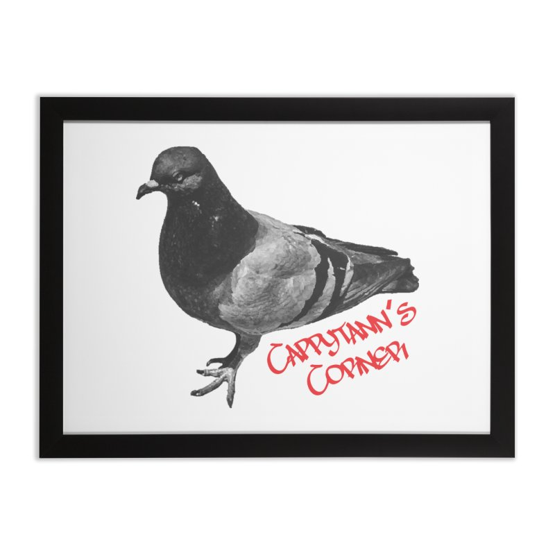 Concrete Pigeon Red Home Framed Fine Art Print by Cappytann's Artist Shop