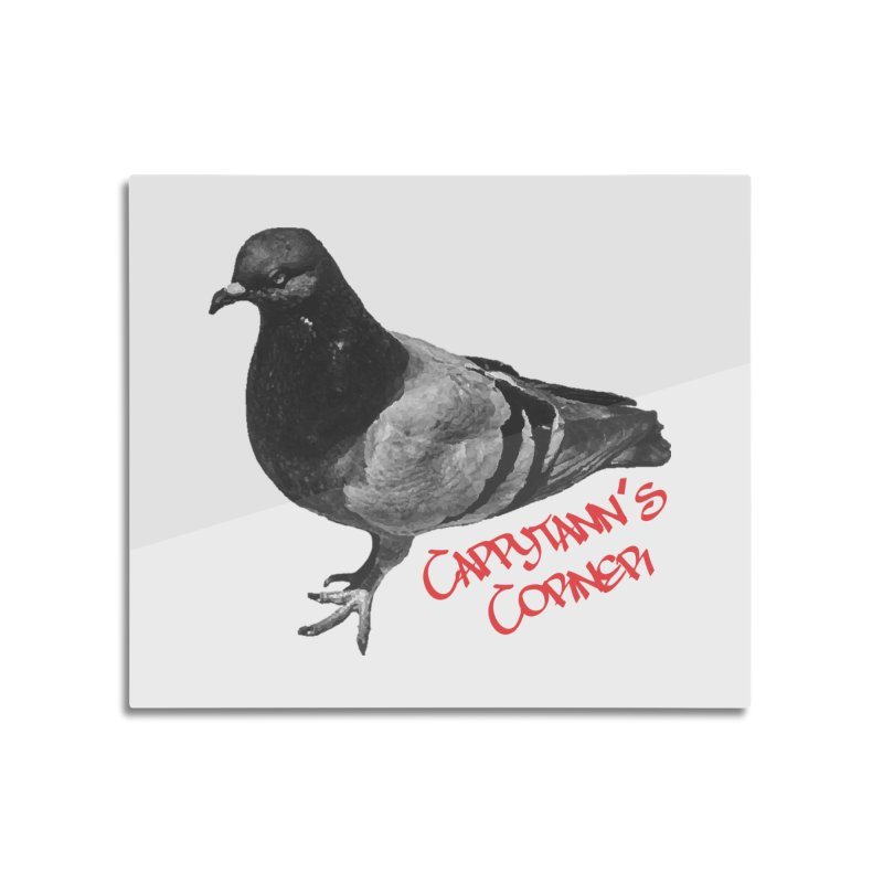 Concrete Pigeon Red Home Mounted Acrylic Print by Cappytann's Artist Shop