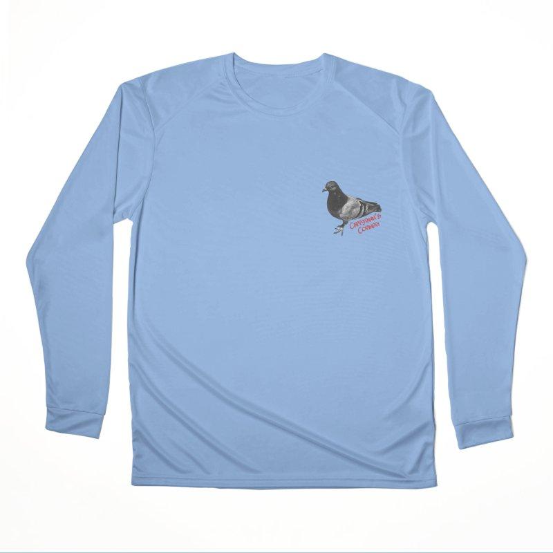 Concrete Pigeon Red Women's Longsleeve T-Shirt by Cappytann's Artist Shop