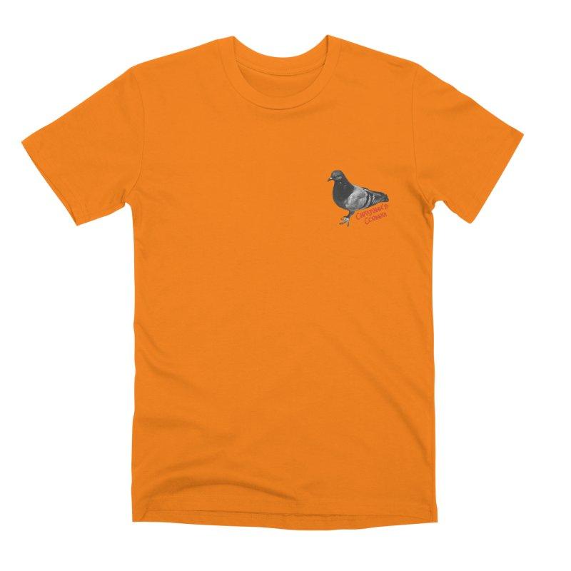 Concrete Pigeon Red Men's T-Shirt by Cappytann's Artist Shop