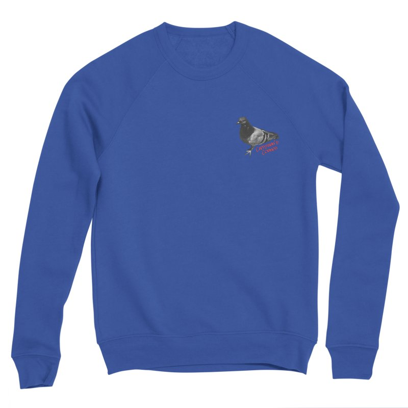 Concrete Pigeon Red Women's Sweatshirt by Cappytann's Artist Shop