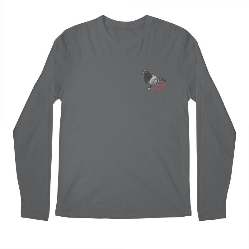Concrete Pigeon Red Men's Longsleeve T-Shirt by Cappytann's Artist Shop