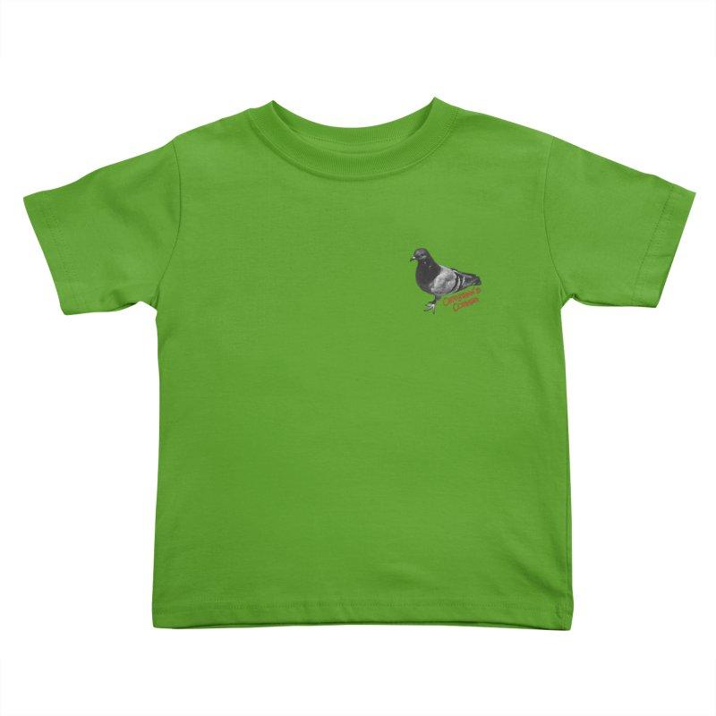 Concrete Pigeon Red Kids Toddler T-Shirt by Cappytann's Artist Shop
