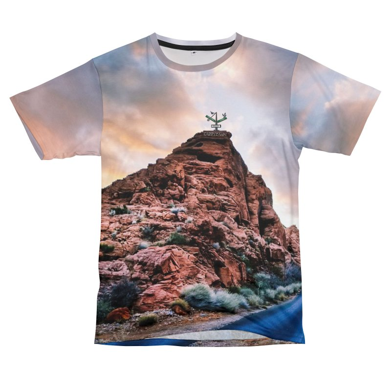 Nevada Sunset Men's Cut & Sew by Cappytann's Artist Shop