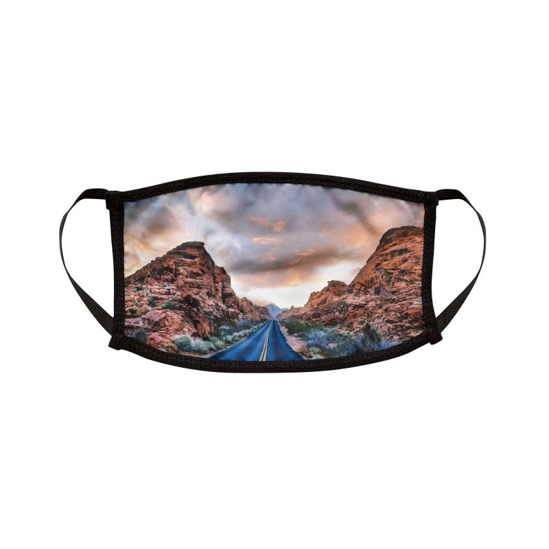 Nevada Sunset Accessories Face Mask by Cappytann's Artist Shop