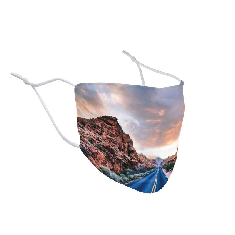 Nevada Sunset Accessories Face Mask by Cappytann's Artist Shop