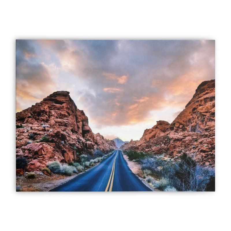 Nevada Sunset Home Stretched Canvas by Cappytann's Artist Shop