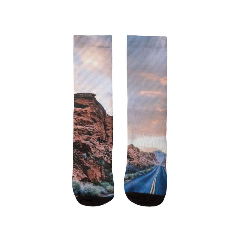 Nevada Sunset Men's Socks by Cappytann's Artist Shop