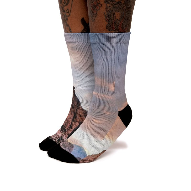 Nevada Sunset Women's Socks by Cappytann's Artist Shop
