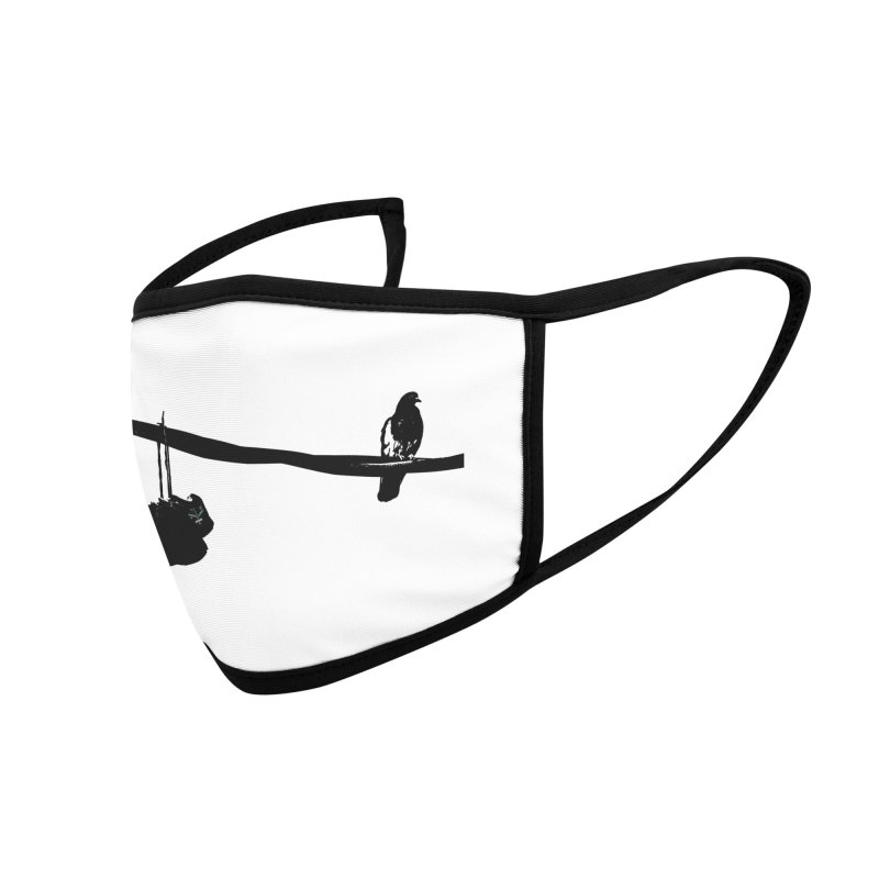 Bird On Wire R Accessories Face Mask by Cappytann's Artist Shop