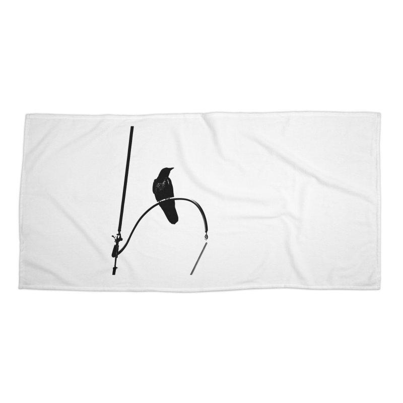 Crow R Accessories Beach Towel by Cappytann's Artist Shop