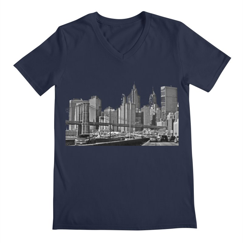 View from the FDR Men's V-Neck by Cappytann's Artist Shop