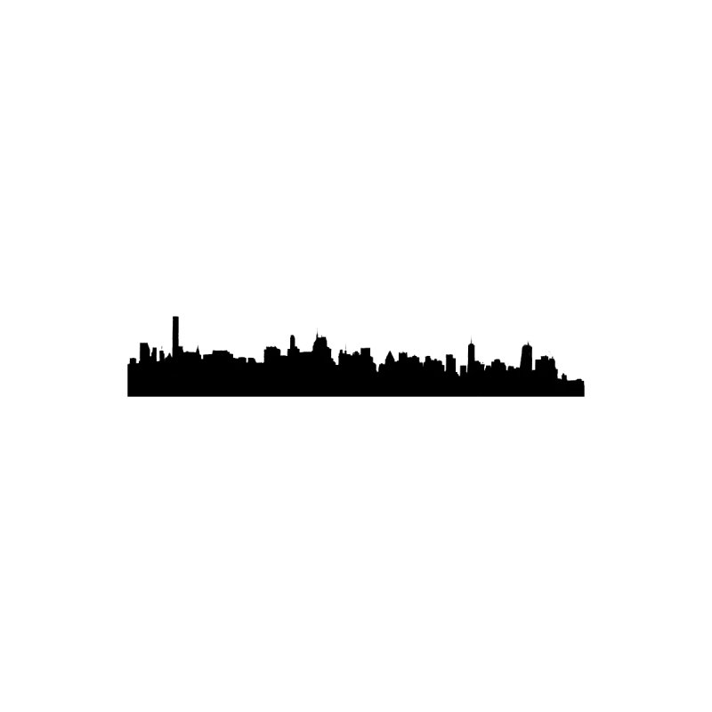 NYC from GWB Home Mounted Aluminum Print by Cappytann's Artist Shop