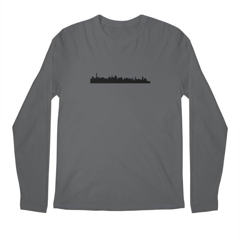 NYC from GWB Men's Longsleeve T-Shirt by Cappytann's Artist Shop