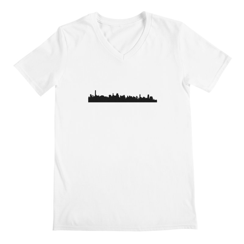 NYC from GWB Men's V-Neck by Cappytann's Artist Shop