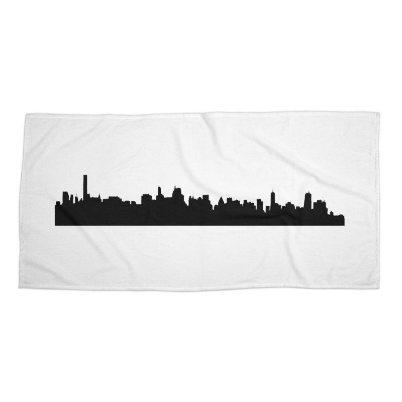 NYC from GWB Accessories Beach Towel by Cappytann's Artist Shop