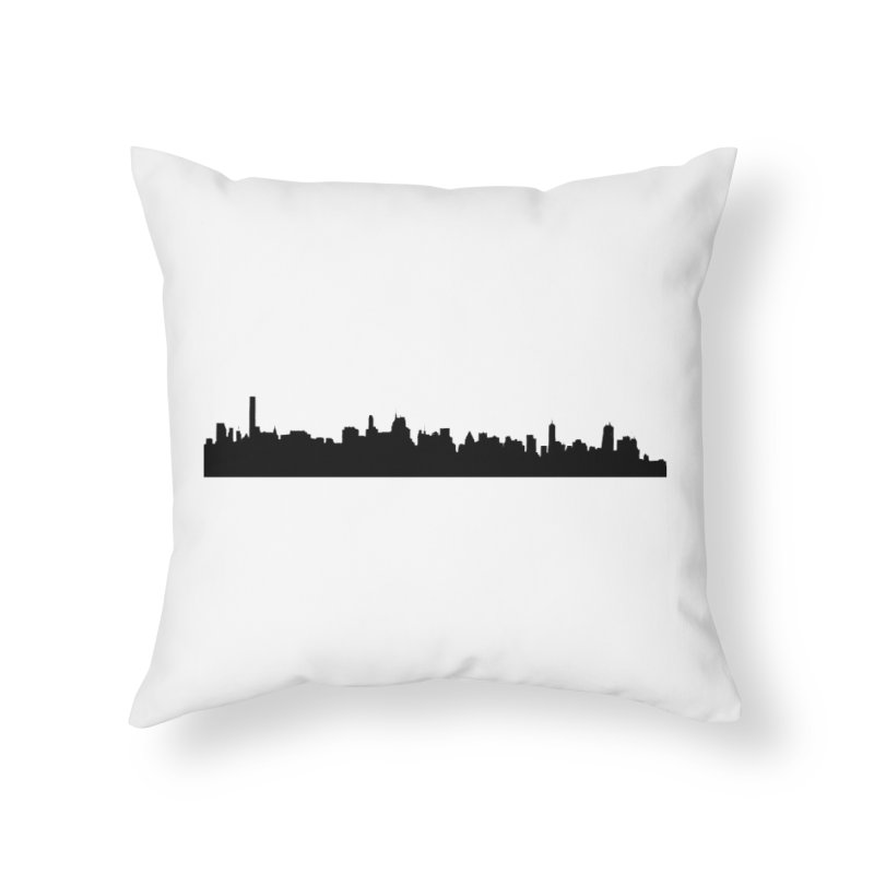 NYC from GWB Home Throw Pillow by Cappytann's Artist Shop