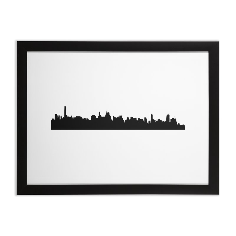 NYC from GWB Home Framed Fine Art Print by Cappytann's Artist Shop
