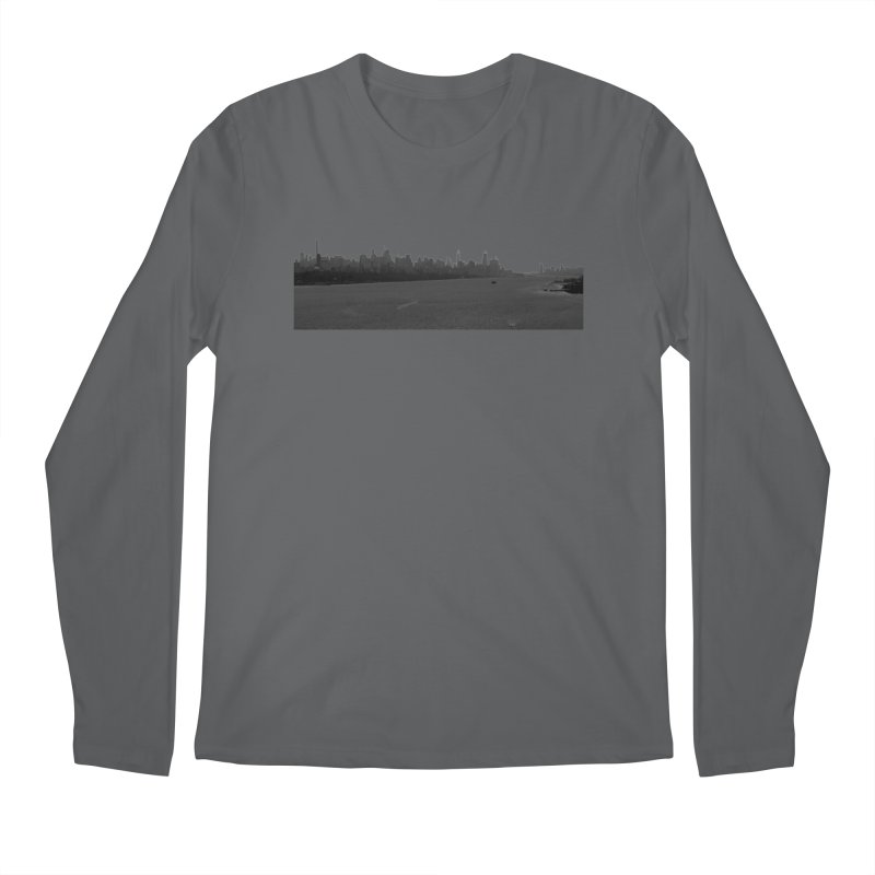 NYC from GWB BW Men's Longsleeve T-Shirt by Cappytann's Artist Shop