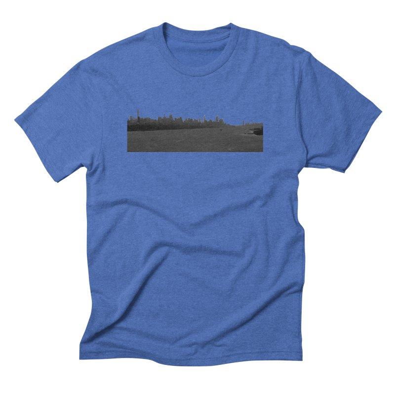 NYC from GWB BW Men's T-Shirt by Cappytann's Artist Shop