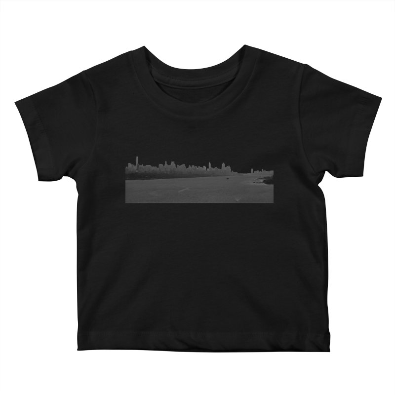 NYC from GWB BW Kids Baby T-Shirt by Cappytann's Artist Shop