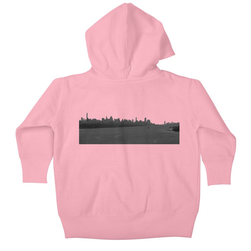 NYC from GWB BW Kids Baby Zip-Up Hoody by Cappytann's Artist Shop