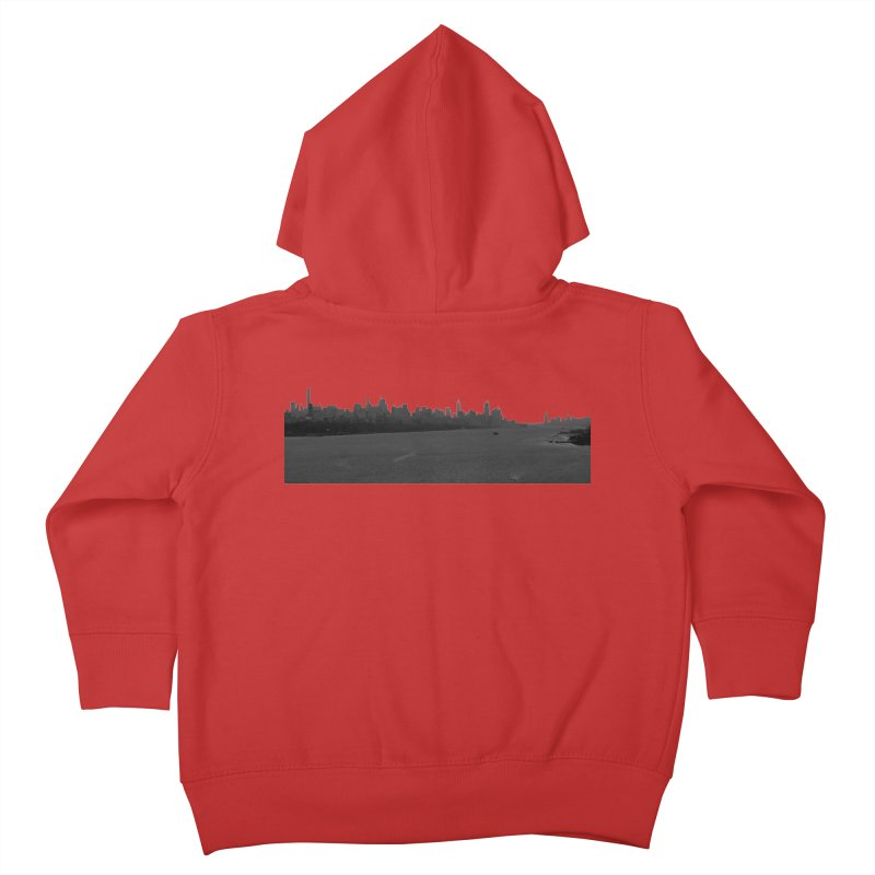 NYC from GWB BW Kids Toddler Zip-Up Hoody by Cappytann's Artist Shop