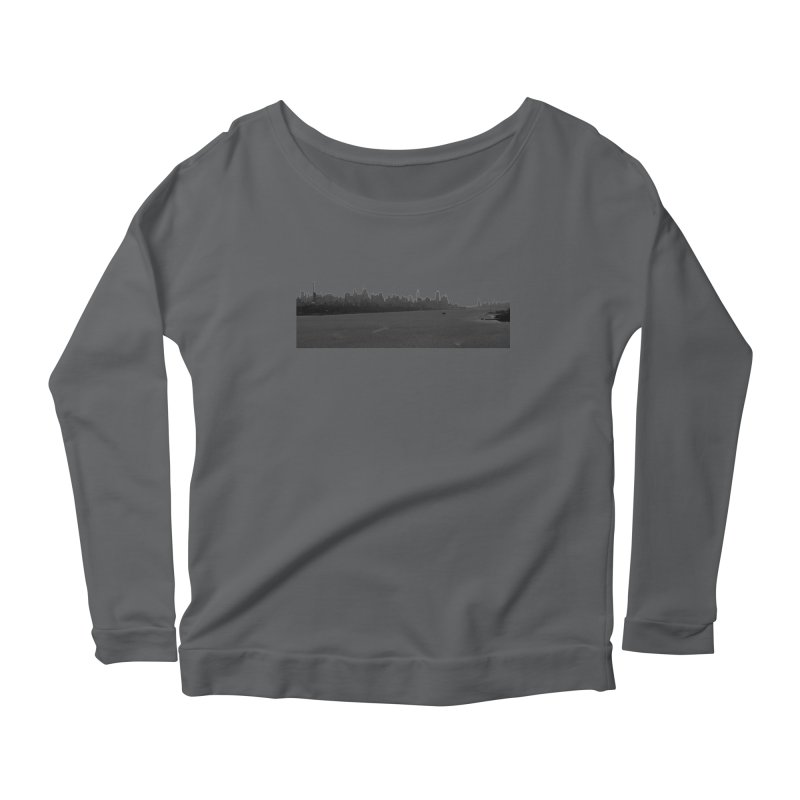NYC from GWB BW Women's Longsleeve T-Shirt by Cappytann's Artist Shop