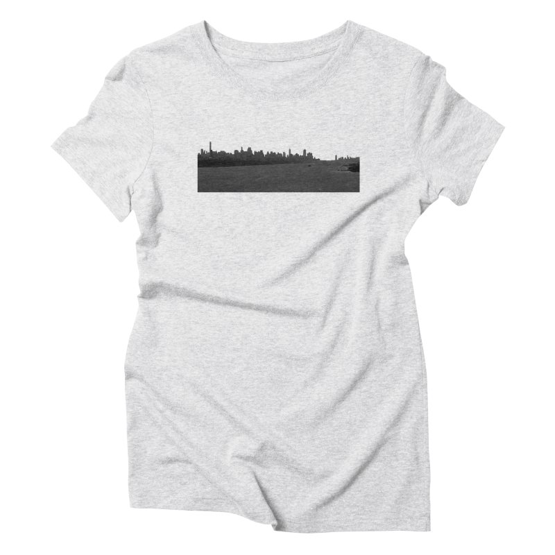NYC from GWB BW Women's T-Shirt by Cappytann's Artist Shop