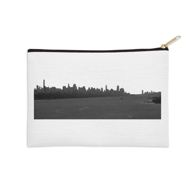 NYC from GWB BW Accessories Zip Pouch by Cappytann's Artist Shop