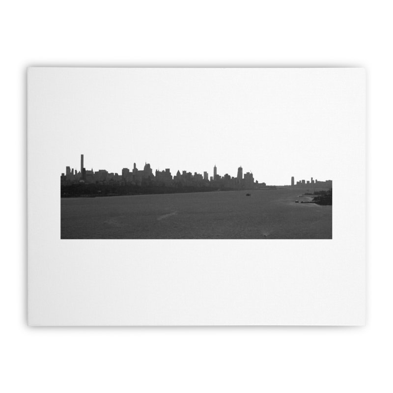 NYC from GWB BW Home Stretched Canvas by Cappytann's Artist Shop