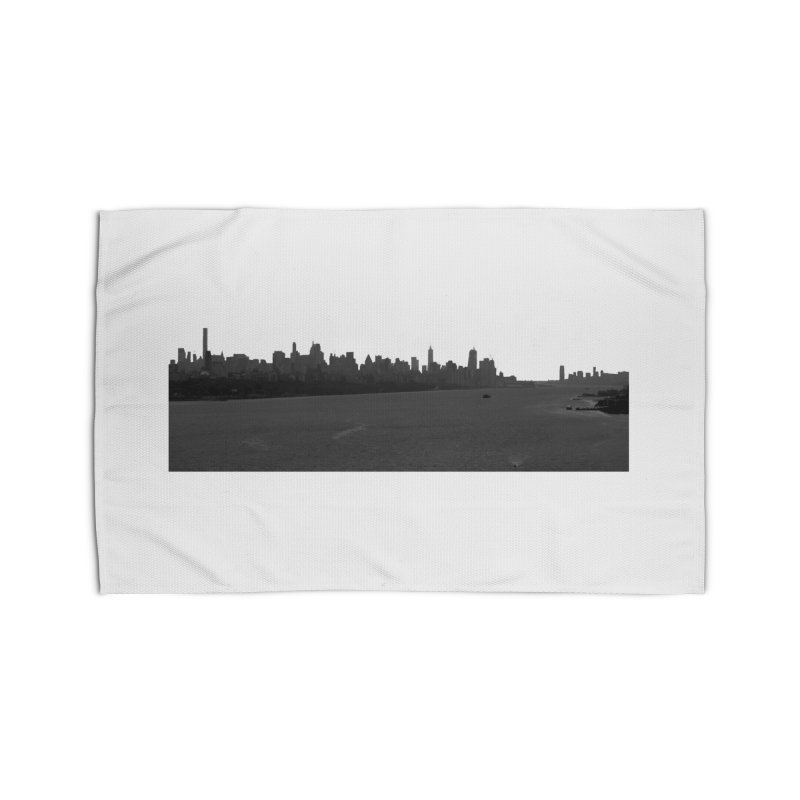 NYC from GWB BW Home Rug by Cappytann's Artist Shop
