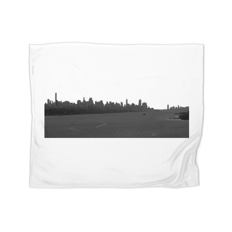NYC from GWB BW Home Blanket by Cappytann's Artist Shop