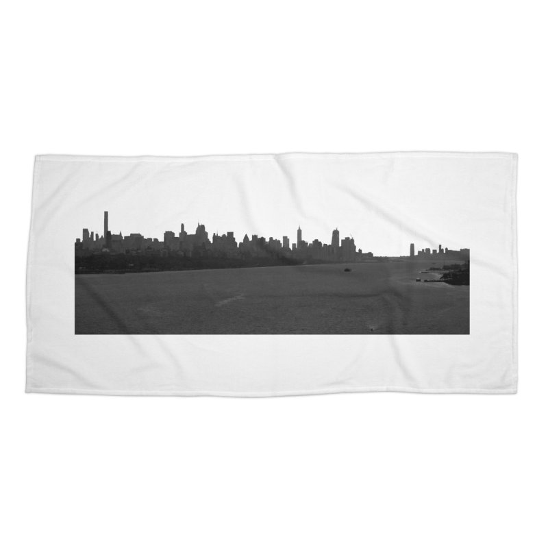 NYC from GWB BW Accessories Beach Towel by Cappytann's Artist Shop