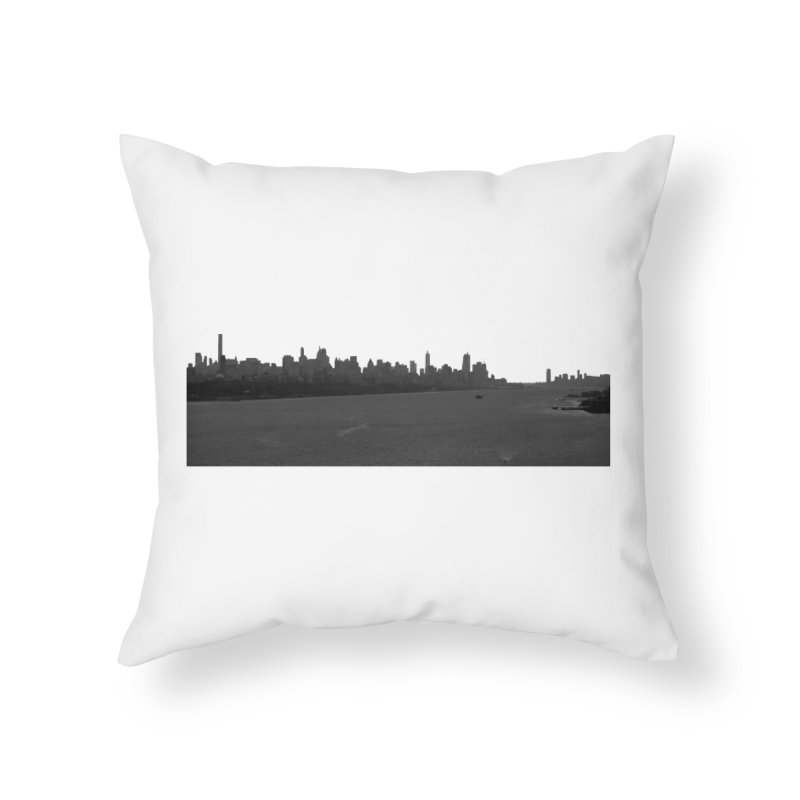 NYC from GWB BW Home Throw Pillow by Cappytann's Artist Shop