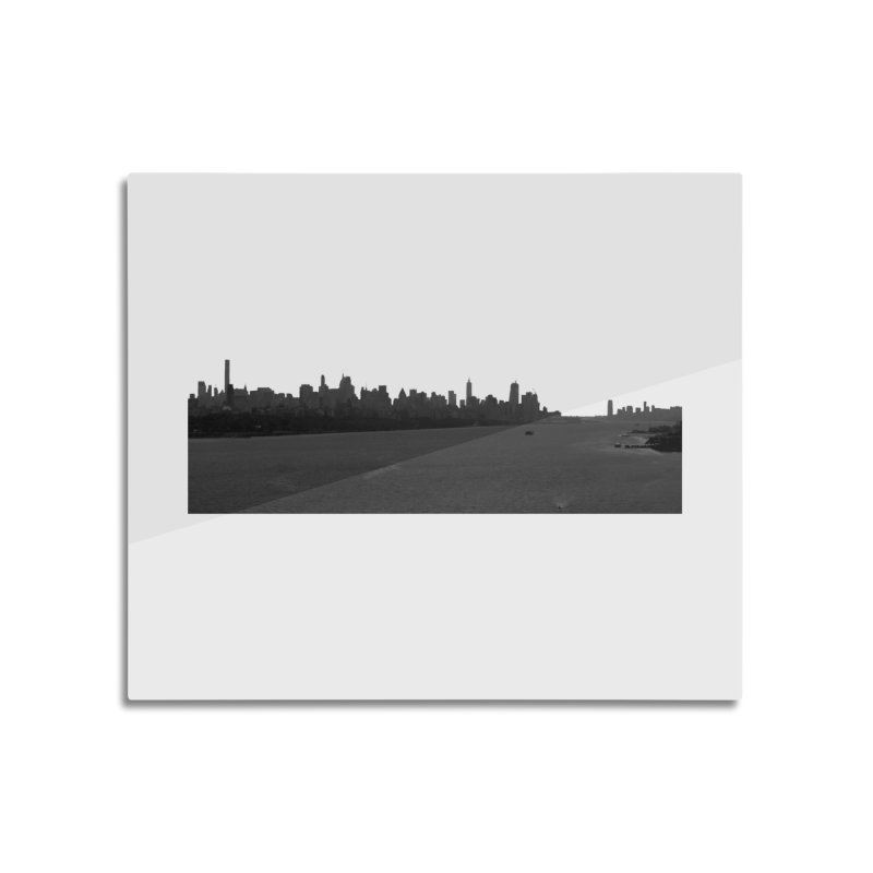 NYC from GWB BW Home Mounted Aluminum Print by Cappytann's Artist Shop