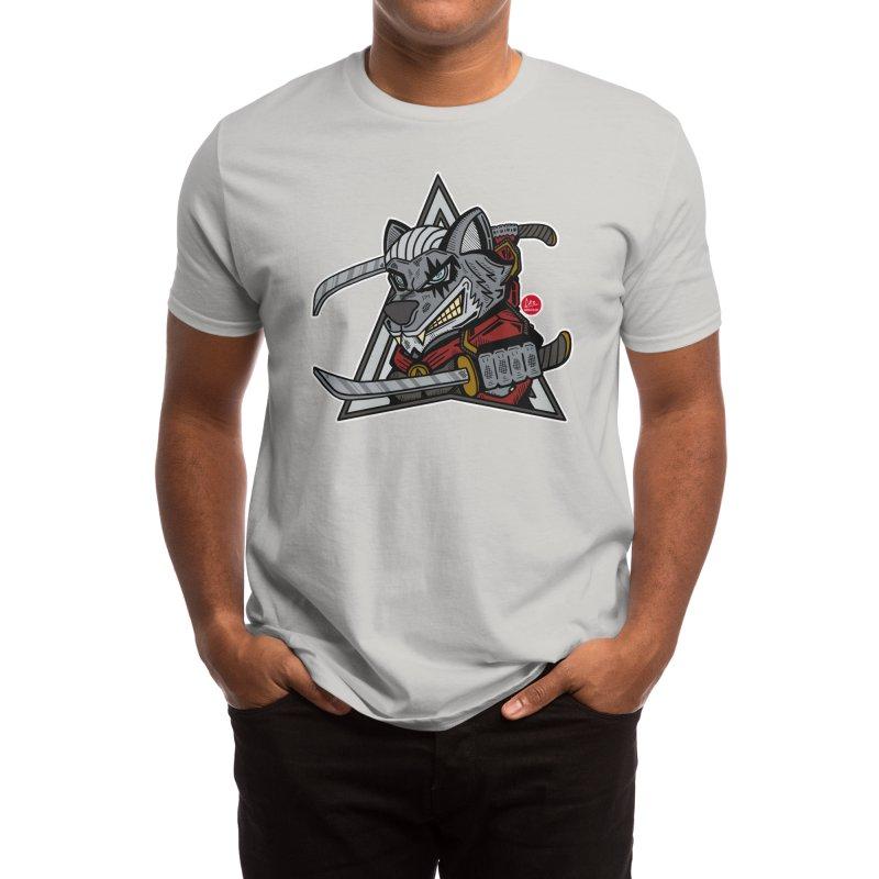 White Wolf Men's T-Shirt by Capsule 83 Art