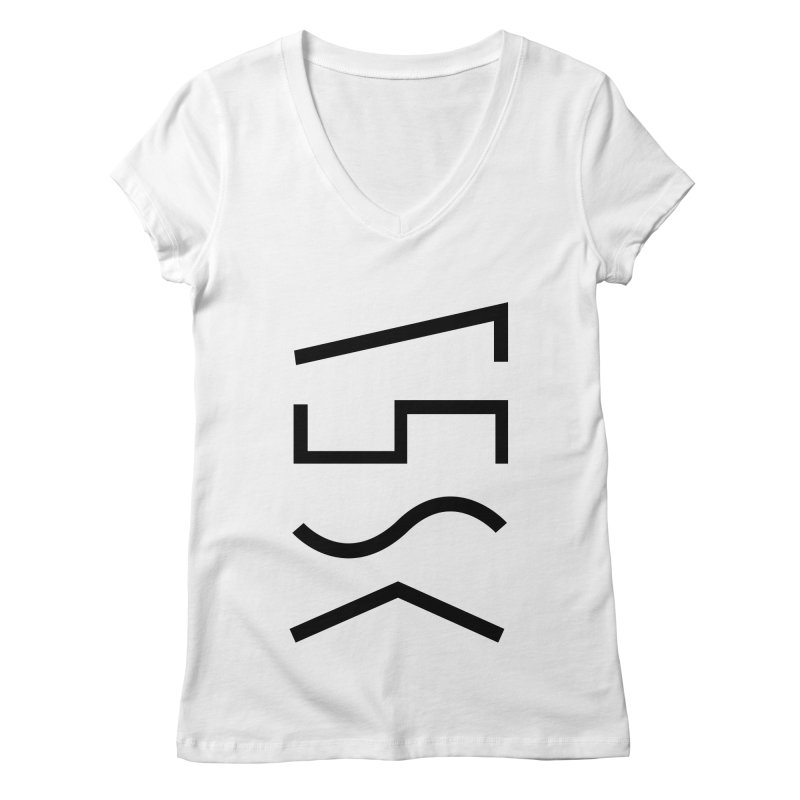 Synth Waves Women's V-Neck by 11th Planet LLC