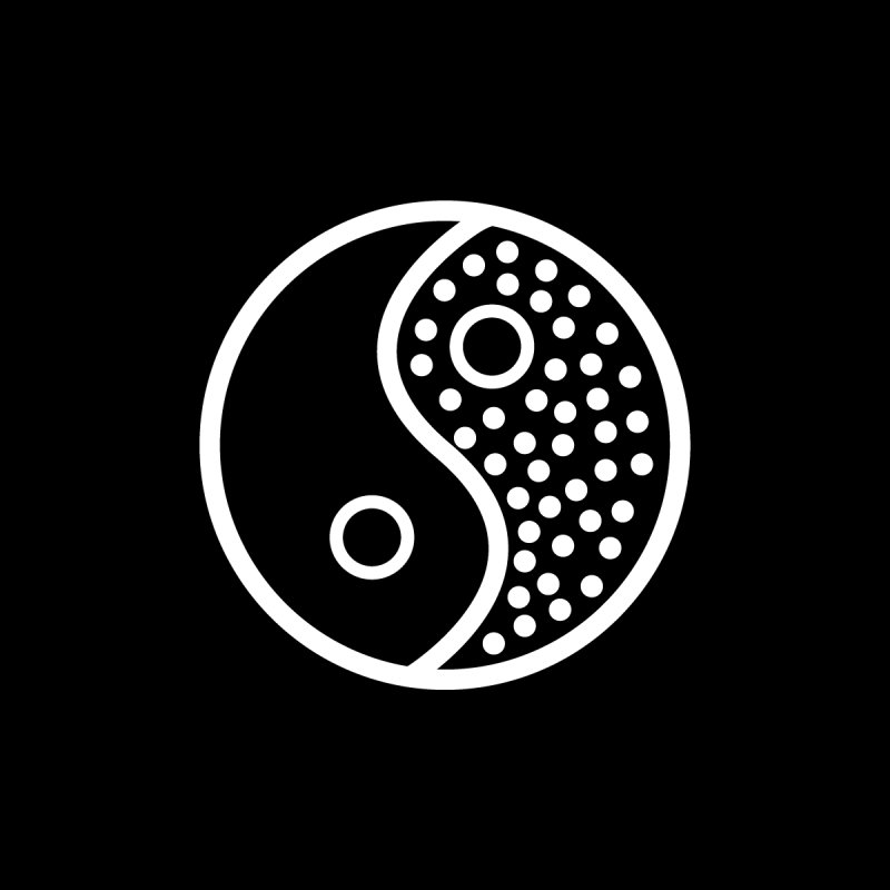 Yin Yang None  by capybaraclub's Shop