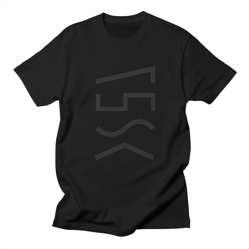 Synth Waves Black on Black Men's T-shirt by 11th Planet LLC