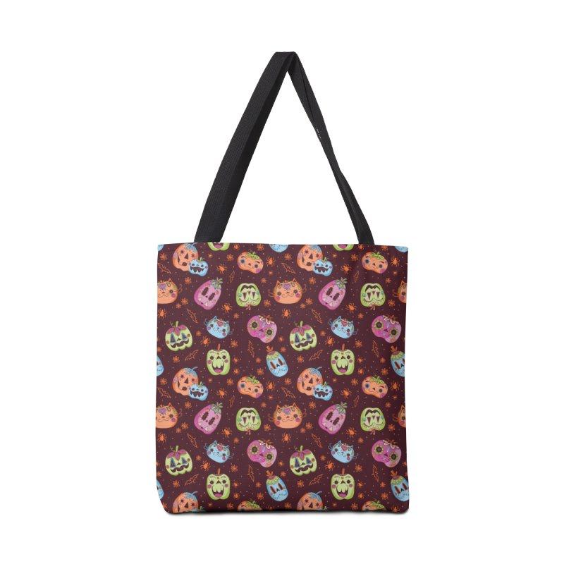 pumpkins Accessories Bag by caramela's Artist Shop