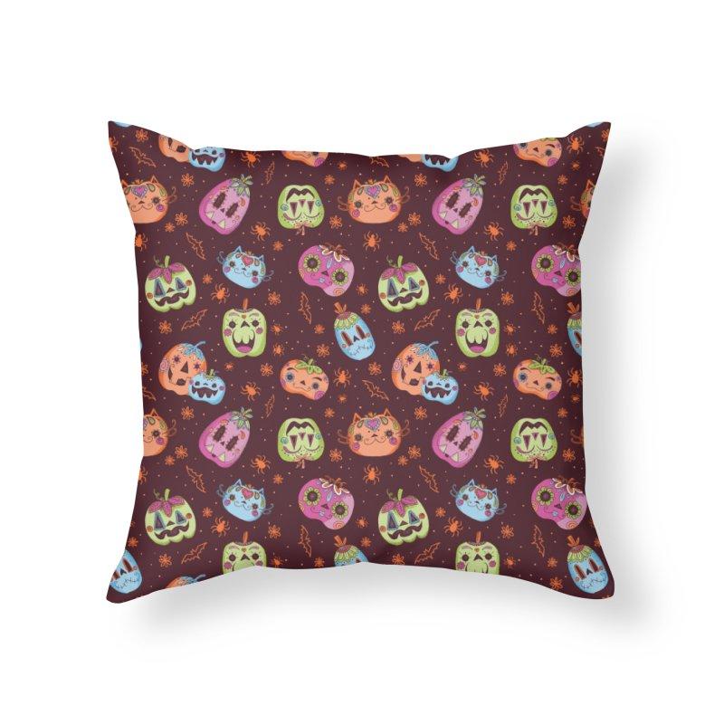 pumpkins Home Throw Pillow by caramela's Artist Shop