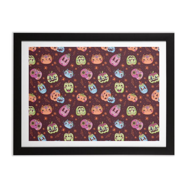 pumpkins Home Framed Fine Art Print by caramela's Artist Shop