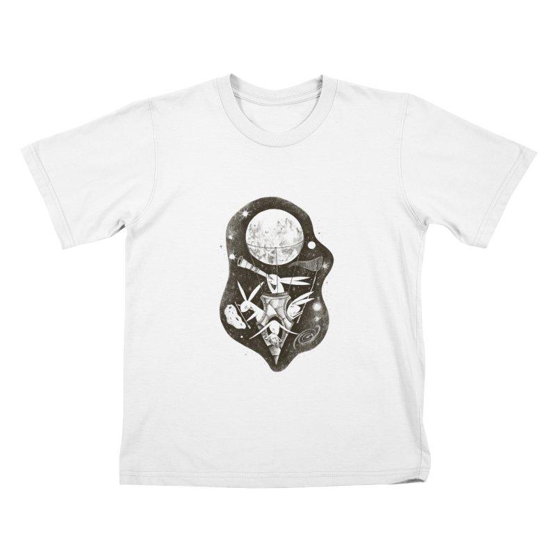 conejos lunaticos Kids T-Shirt by caramela's Artist Shop