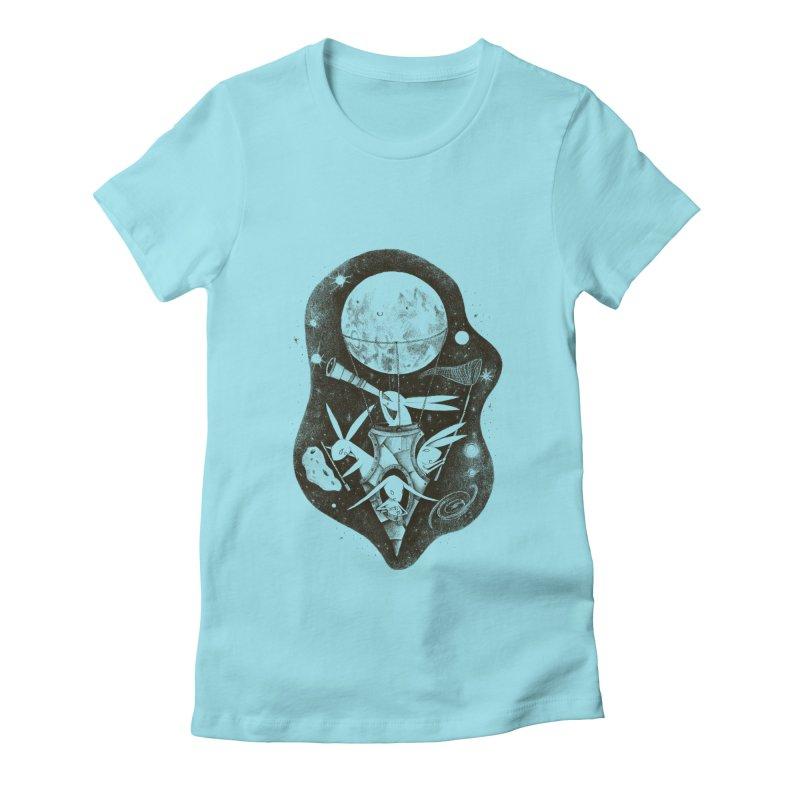 conejos lunaticos Women's Fitted T-Shirt by caramela's Artist Shop