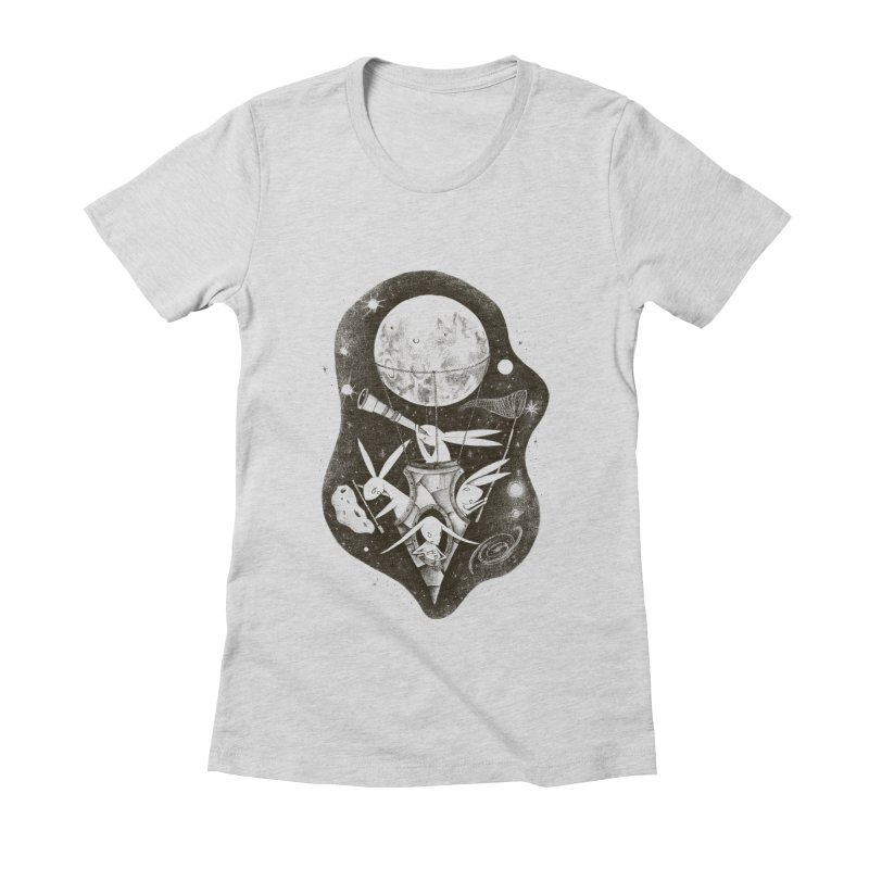 conejos lunaticos Women's Fitted T-Shirt by caramela's Artist Shop