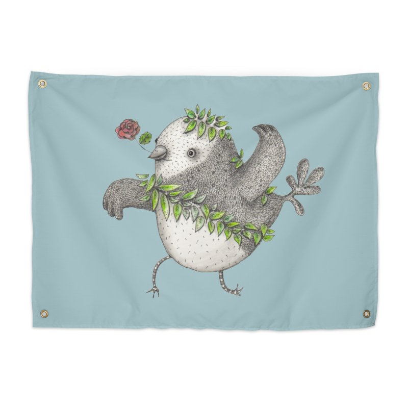 Flamenco Bird Home Tapestry by caratoons's Shop