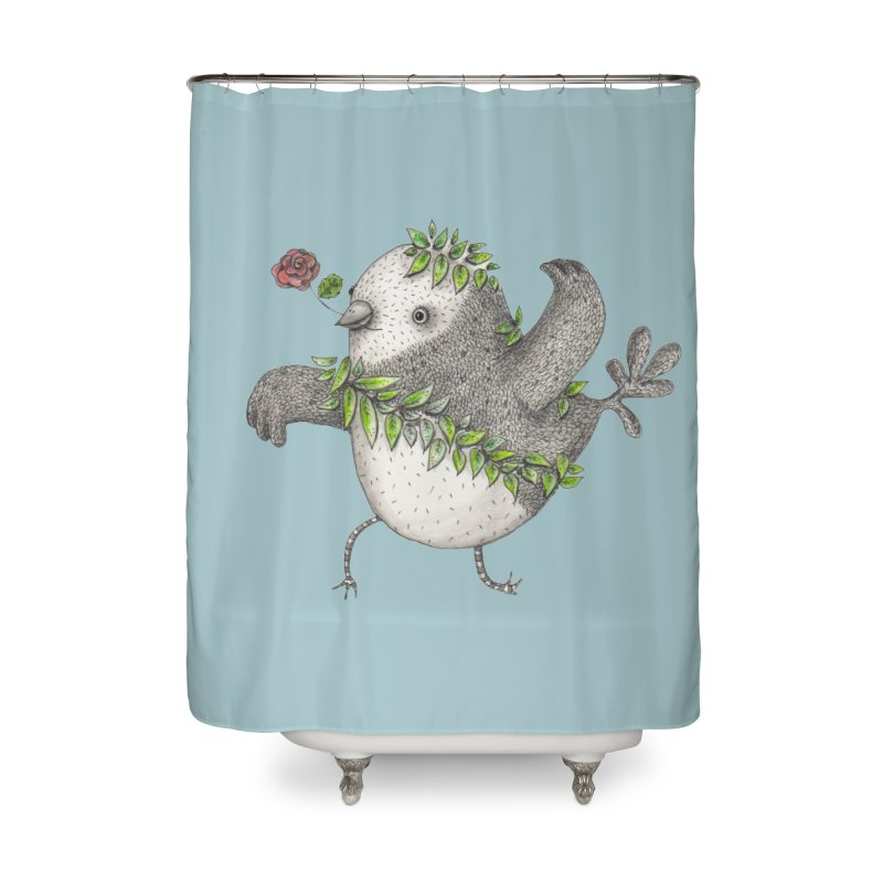 Flamenco Bird Home Shower Curtain by caratoons's Shop