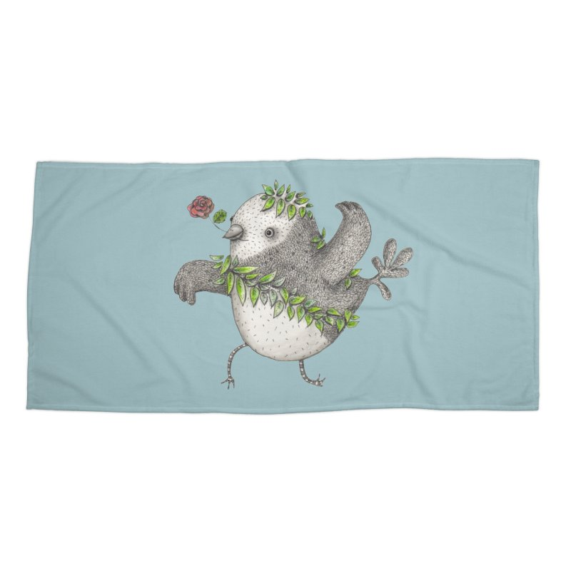 Flamenco Bird Accessories Beach Towel by caratoons's Shop