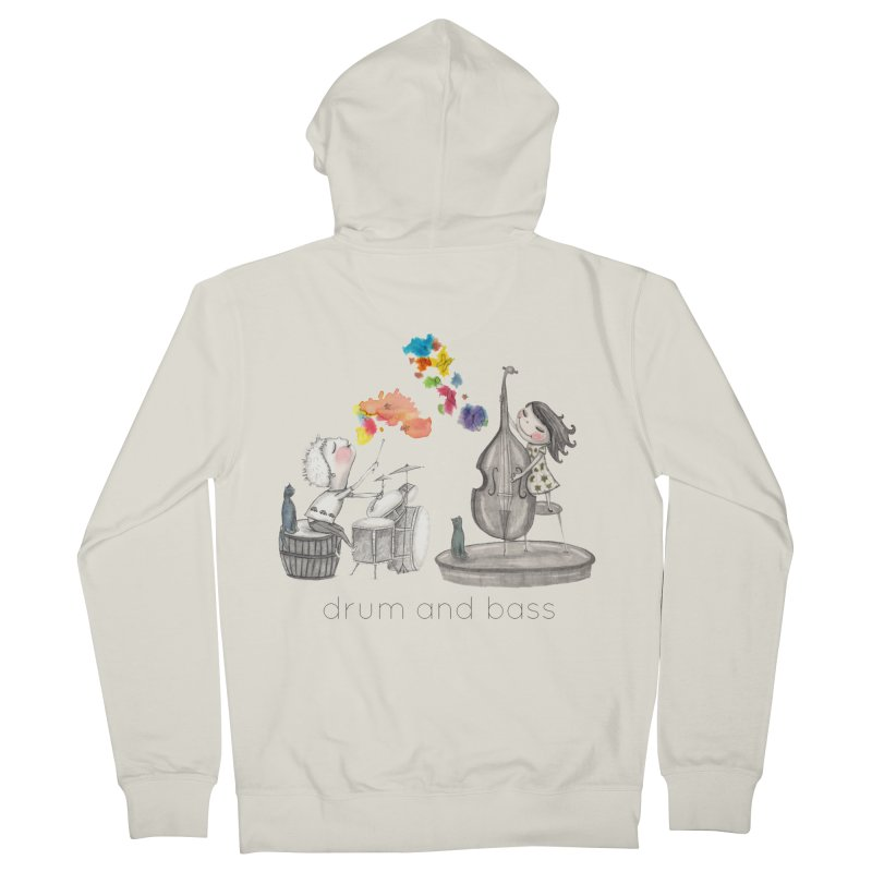 Drum and Bass Men's French Terry Zip-Up Hoody by caratoons's Shop